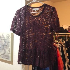 Burgundy Lace top